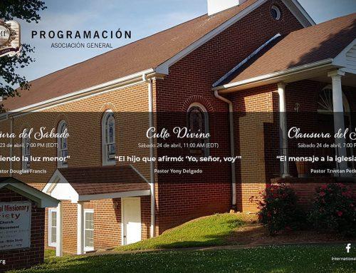 Programación Asociación General – Abr 23-24, 2021